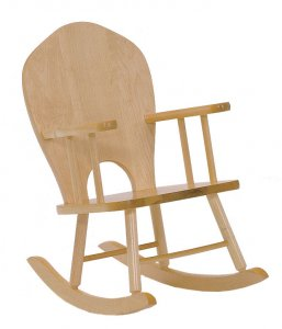 "ROCKING CHAIR FULL BACK MADE WITH SOLID MAPLE  SEAT HEIGHT 10"" JB-400"