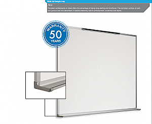 "Porcelain Dry Erase Board, Aluminum Frame, 36"" x48"" (50 Year Warranty) 20003648 PO BC"