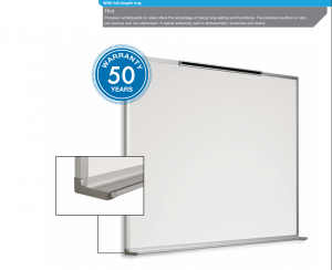 "Porcelain Dry Erase Board, Aluminum Frame, 24"" x36"" (50 Year Warranty) 20002436 PO BC"