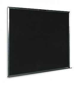 "MAGNETIC LAUZONITE BLACK BOARD 2000 SERIES ALUMINUM FRAME WITH 5 YEARS WARRANTY 48"" X 36"" CB 404836"