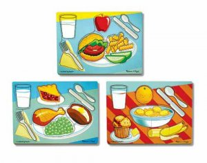 Breakfast, Lunch & Dinner Puzzle Set  Item MD-1267