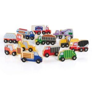 Guidecraft™ Wooden Truck Collection Set of 12 G6718