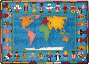 Hands Around the World Classroom Rug 7'8 x 10'9 JC1488D