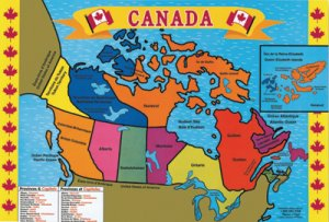Map of Canada Floor Puzzle D45-0428