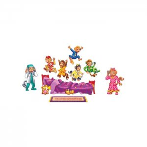 Five Monkeys Jumping on the Bed Bilingual Rhyme Flannelboard Set  LFV-22702