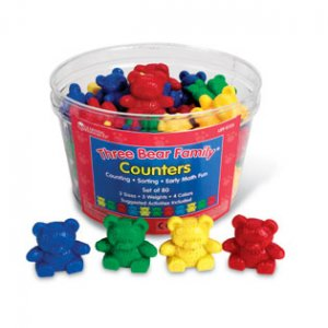 Four-Color Baby Bear™ Counters, Set of 100 LER 0726