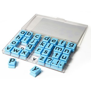 Jumbo Lowercase Alphabet Rubber Stamps EI-1615
