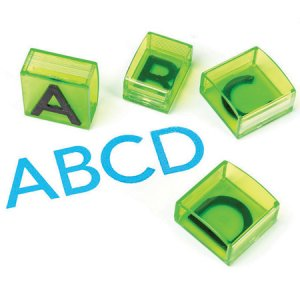 See and Stamp™ Jumbo Uppercase Alphabet Transparent Stamps EI-1646