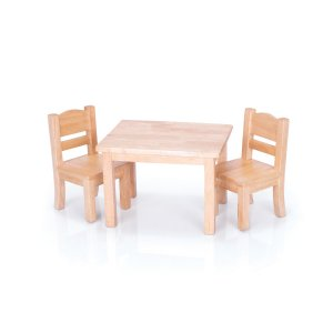 Doll Table and Chair Set Natural G98114