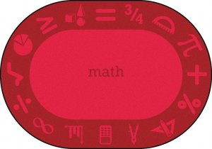 "STEAM Oval Classroom Math Rug 10'9"" X 13'2 JC 1912CC-04"
