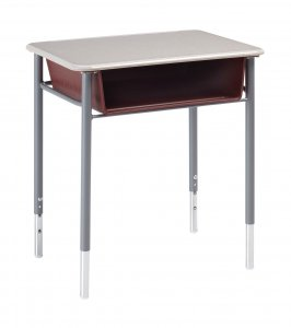 Student Desk with Plastic Book Box Adjustable height (Hard Plastic Top) Color options available.